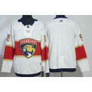 Men's Florida Panthers Customized White Authentic Jersey