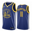 Men's Golden State Warriors #11 Klay Thompson Blue Icon Hot Press Jersey