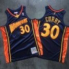 Men's Golden State Warriors #30 Stephen Curry Navy 2009 Throwback Authentic Jersey