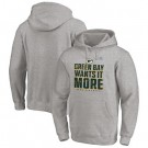 Men's Green Bay Packers Gray 2020 NFL Playoffs Bound Shift Pullover Hoodie