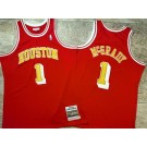 Men's Houston Rockets #1 Tracy Mcgrady Red 2004 Throwback Authentic Jersey