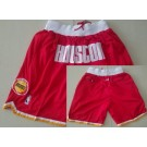 Men's Houston Rockets Red Just Don Shorts