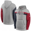 Men's Houston Texans Gray Heathered Heritage Tri Blend Pullover Hoodie
