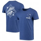 Men's Indianapolis Colts Iconic Retro Diamond Scroll Printed T-Shirt 0781