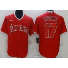 Men's Los Angeles Angels #17 Shohei Ohtani Red Cool Base Jersey