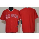 Men's Los Angeles Angels Blank Red Cool Base Jersey