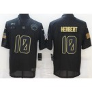 Men's Los Angeles Chargers #10 Justin Herbert Limited Black 2020 Salute To Service Jersey