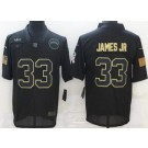 Men's Los Angeles Chargers #33 Derwin James Jr Limited Black 2020 Salute To Service Jersey
