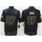 Men's Los Angeles Chargers #97 Joey Bosa Limited Black 2020 Salute To Service Jersey