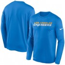 Men's Los Angeles Chargers Blue Sideline Impact Legend Performance Long Sleeves T Shirt 618