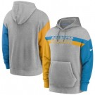 Men's Los Angeles Chargers Gray Heathered Heritage Tri Blend Pullover Hoodie