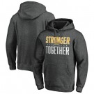 Men's Los Angeles Chargers Heather Charcoal Stronger Together Printed Pullover Hoodie 0779