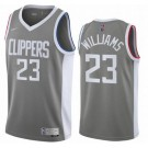 Men's Los Angeles Clippers #23 Lou Williams Gray 2021 Earned Icon Hot Press Jersey