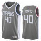 Men's Los Angeles Clippers #40 Ivica Zubac Gray 2021 Earned Icon Hot Press Jersey