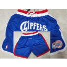 Men's Los Angeles Clippers Blue Just Don Shorts