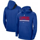 Men's Los Angeles Clippers Blue Spotlight On Court Practice Performance Pullover Hoodie