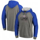 Men's Los Angeles Clippers Gray Blue 1 Printed Pullover Hoodie