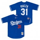 Men's Los Angeles Dodgers #31 Mike Piazza Blue Mesh Throwback Jersey