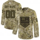 Men's Los Angeles Kings Customized Camo Authentic Jerse