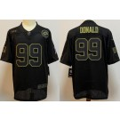 Men's Los Angeles Rams #99 Aaron Donald Limited Black 2020 Salute To Service Jersey
