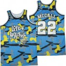 Men's Love and Basketball #22 Quincy McCall Blue Camo Basketball Jersey