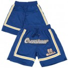 Men's Love and Basketball #22 Quincy McCall Blue Crenshaw Basketball Shorts