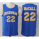 Men's Love and Basketball Crenshaw #22 Quincy Mcall Blue Basketball Jersey