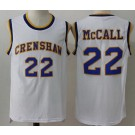 Men's Love and Basketball Crenshaw #22 Quincy Mcall White Basketball Jersey