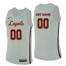 Men's Loyola Chicago Ramblers Customized White College Basketball Jersey
