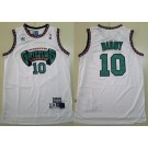 Men's Memphis Grizzlies #10 Mike Bibby White Hollywood Classic Throwback Swingman Jersey