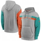 Men's Miami Dolphins Gray Heathered Heritage Tri Blend Pullover Hoodie