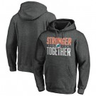 Men's Miami Dolphins Heather Charcoal Stronger Together Printed Pullover Hoodie 0785