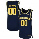 Men's Michigan Wolverines Customized Navy 2019 College Basketball Jersey