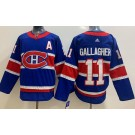 Men's Montreal Canadiens #11 Brendan Gallagher Blue Special 2021 Authentic Jersey
