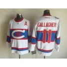 Men's Montreal Canadiens #11 Brendan Gallagher White Throwback Jersey