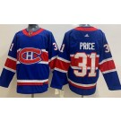 Men's Montreal Canadiens #31 Carey Price Blue Special 2021 Authentic Jersey