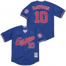 Men's Montreal Expos #10 Andre Dawson Blue Throwback Jersey