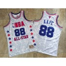 Men's NBA #88 AAPE White All Star Hardwood Classics Authentic Jersey
