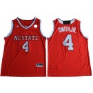 Men's NC State Wolfpack #4 Dennis Smith Jr Red College Basketball Jersey
