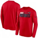 Men's New England Patriots Red Sideline Impact Legend Performance Long Sleeves T Shirt 636