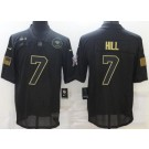 Men's New Orleans Saints #7 Taysom Hill Limited Black 2020 Salute To Service Jersey
