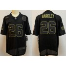 Men's New York Giants #26 Saquon Barkley Limited Black 2020 Salute To Service Jersey