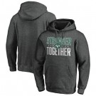Men's New York Jets Heather Charcoal Stronger Together Printed Pullover Hoodie 0832