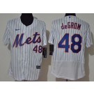 Men's New York Mets #48 Jacob deGrom White 2020 FlexBase Jersey