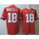 Men's Ohio State Buckeyes #18 Tate Martell Red College Football Jersey