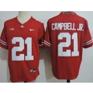 Men's Ohio State Buckeyes #21 Parris Campbell Jr Red College Football Jersey