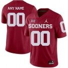 Men's Oklahoma Sooners Customized Limited Red 2019 College Football Jersey