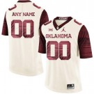 Men's Oklahoma Sooners Customized Limited White Rush 2019 College Football Jersey