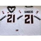 Men's Oklahoma State Cowboys #21 Barry Sanders White Rush College Football Jersey