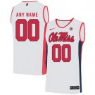 Men's Ole Miss Rebels Customized White 2019 College Basketball Jersey